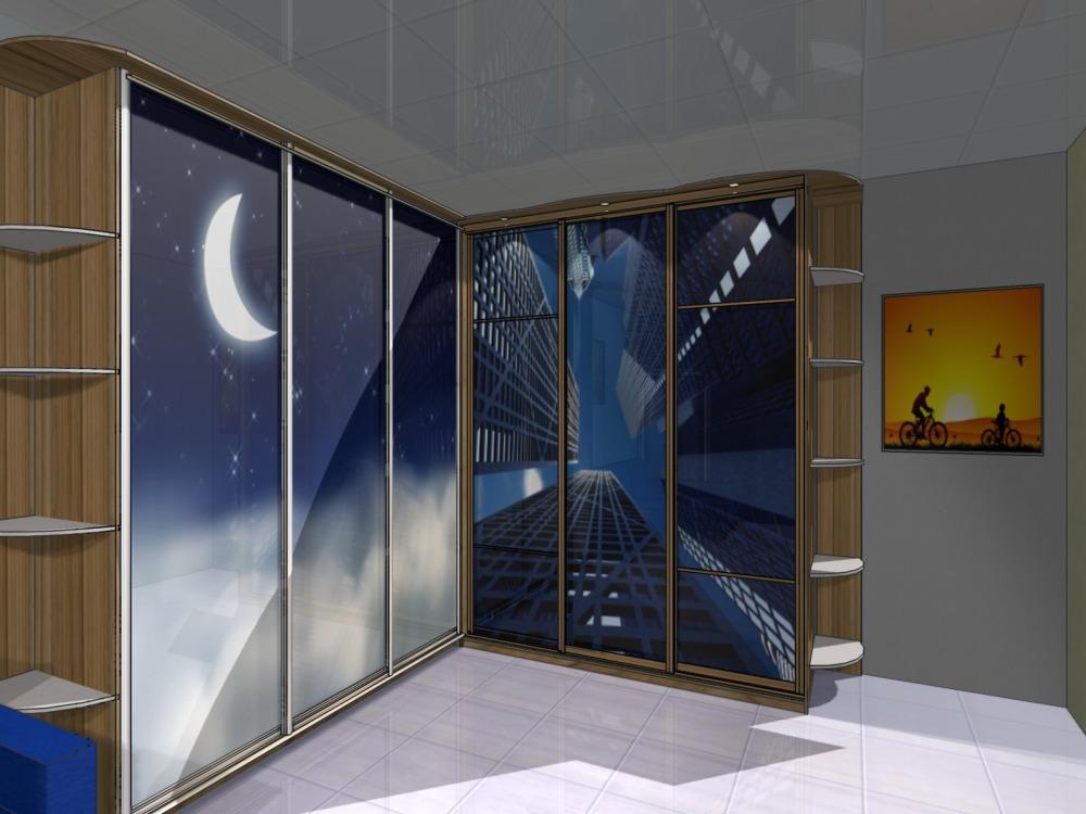 Угловой шкаф-купе в детскую комнату фото дизайна