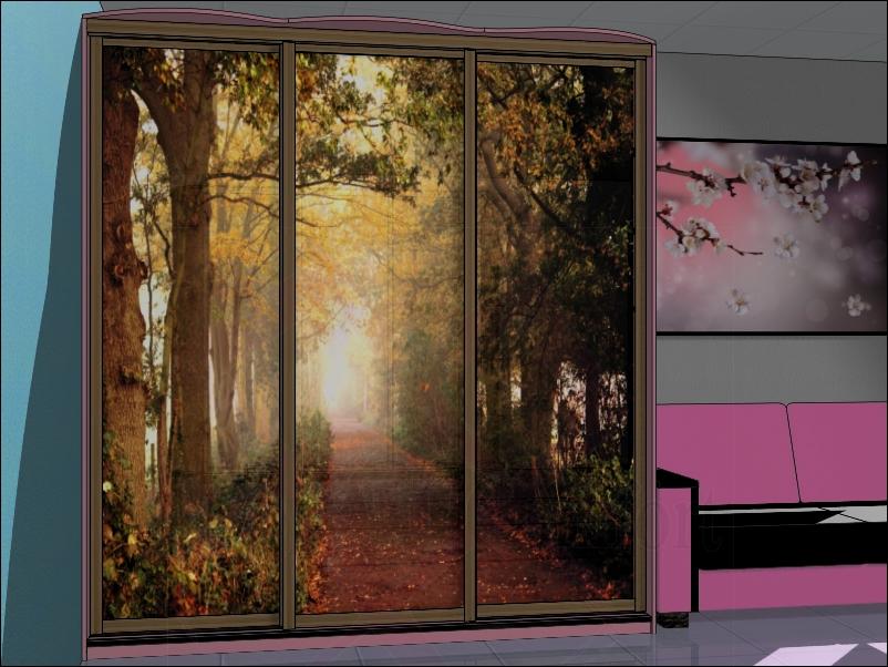 Дизайн, фото, шкаф-купе в спальню на заказ