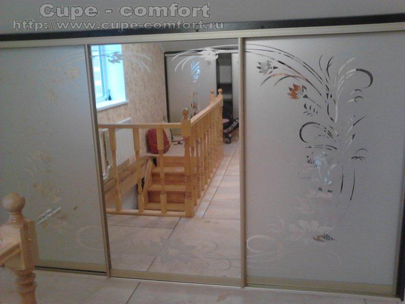 встроенный шкаф-купе в мансарду