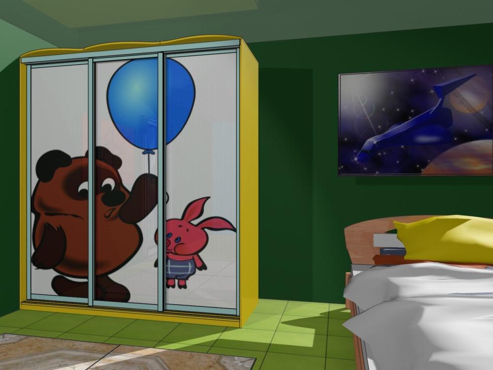 Шкаф-купе в детской фото пример обзор