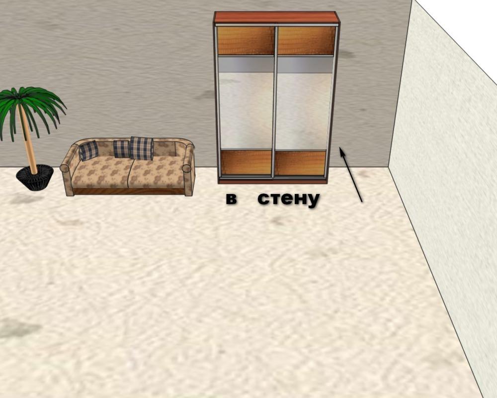 Встроенный шкаф-купе к стене
