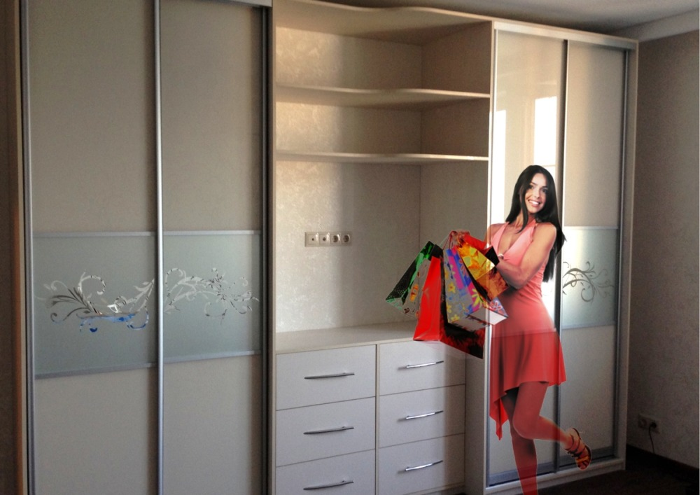 шкафы купе спальня фото