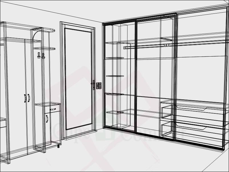Фото дизайна встроенного шкафа в спальне
