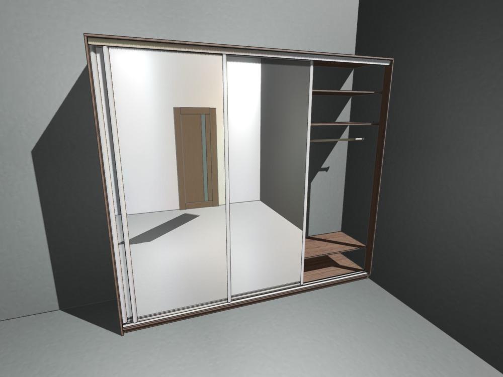 встроенный шкаф-купе в угол
