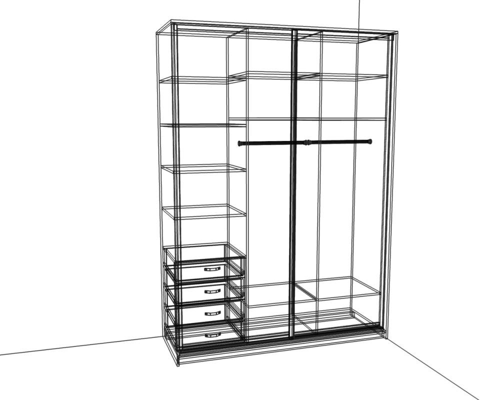 Встроенные шкафы купе схема фото 121