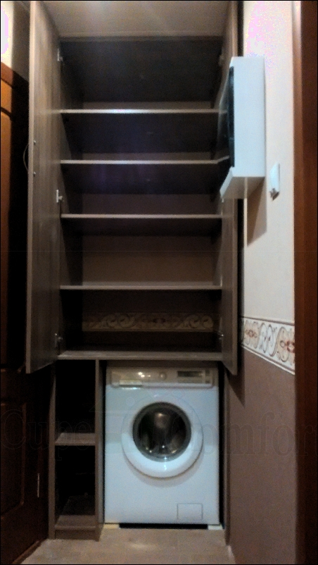 Шкаф внутри фото с местом под стиральную машинку