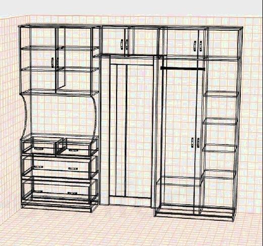 Дизайн шкафа предварительный
