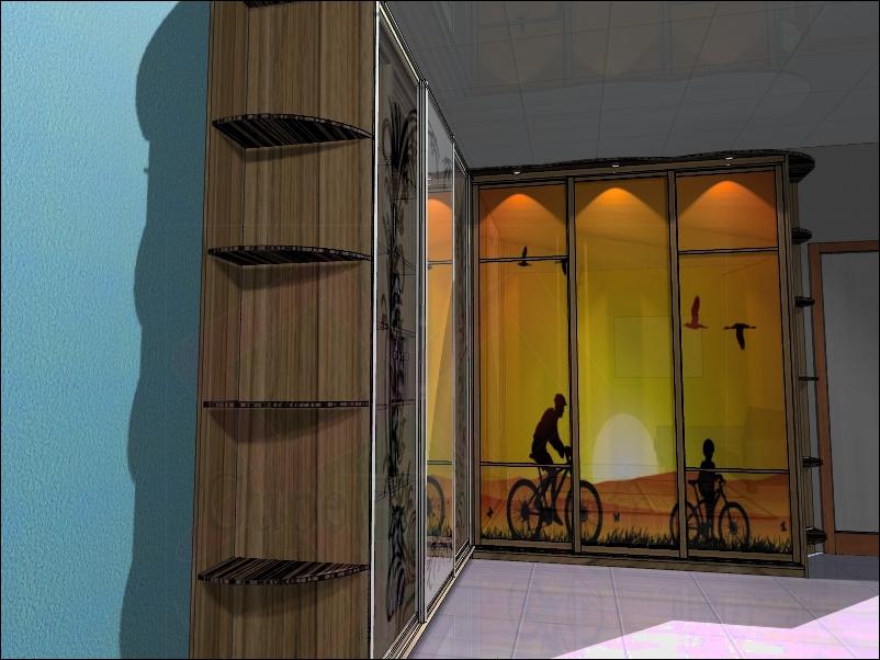 Оформление интерьера комнаты и шкаф-купе