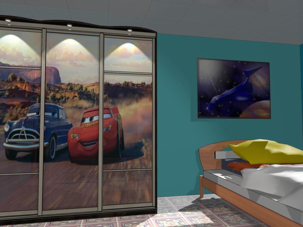 Фото дизайна детской мебели на примере шкафа-купе