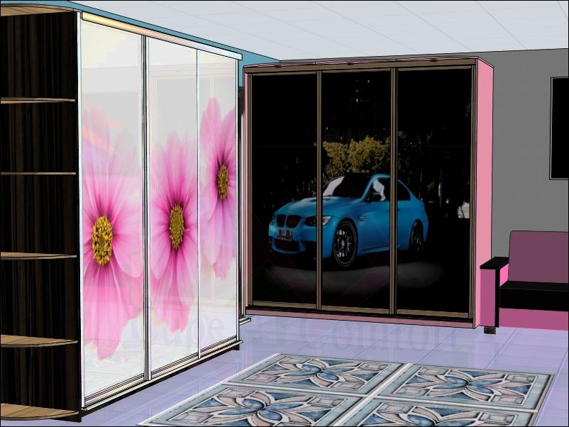 Дизайн встроеного шкафа-купе в спальне