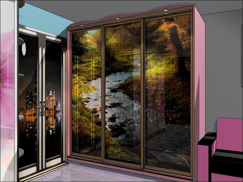 Дизайн встроенного шкафа фото