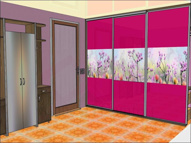 Дизайн встроенного шкафа купе в гостиной фото