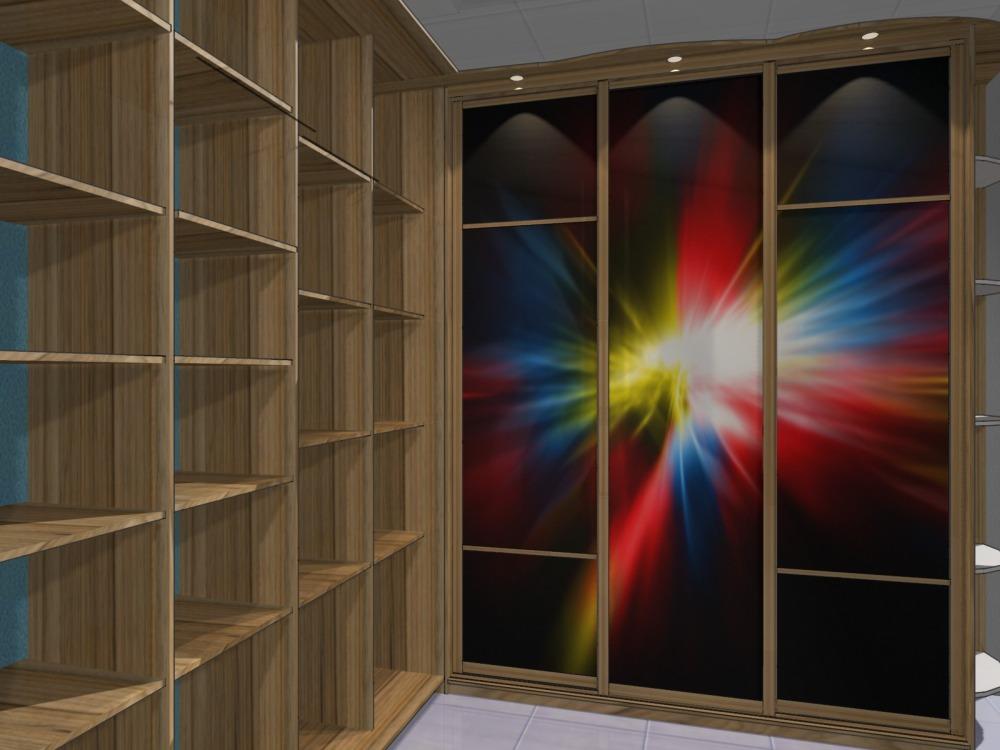 Фото дизайна углового шкафа-купе в спальне