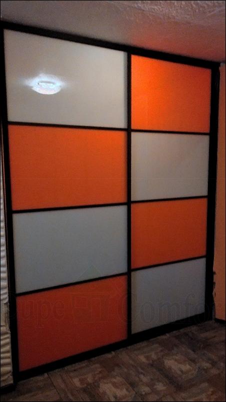 Межкомнатная раздвижная система, двери купе цветное стекло фото