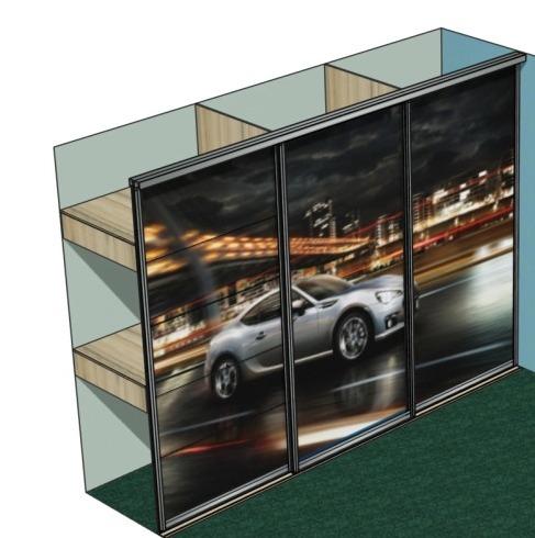 Шкаф-купе встроенный в детской комнате дизайн фото автомобиль