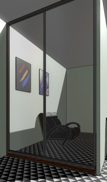 Дизайн дверей купе с зеркалом фото
