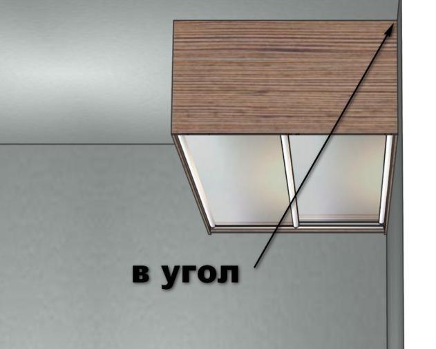 встроенный шкаф-куне в угол