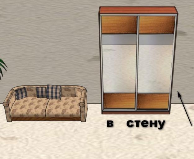 встроенный шкаф-купе в стену