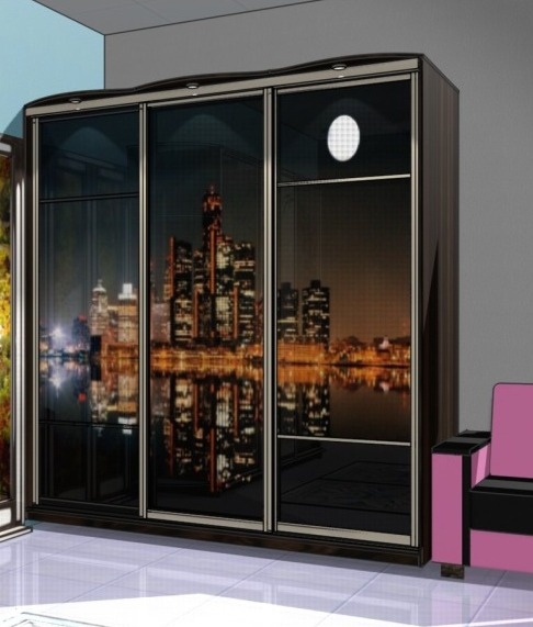 Дизайн дверей шкафа купе фото, фото-печать