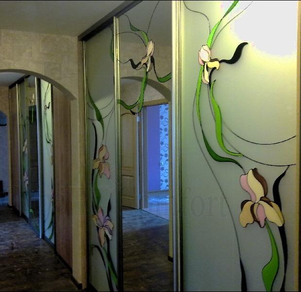Двери купе гардеробной в коридоре фото