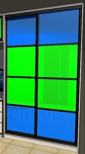 Дизайн дверей купе фото цветные стекла
